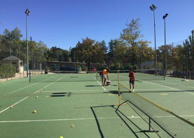 tenis escuela clases y alquiler de pista en san lorenzo de el escorial
